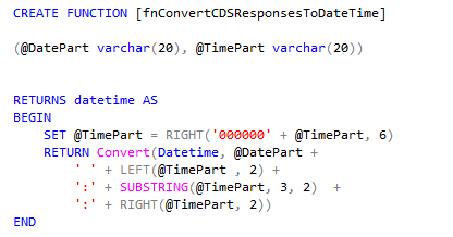 fn convert cds response to datetime